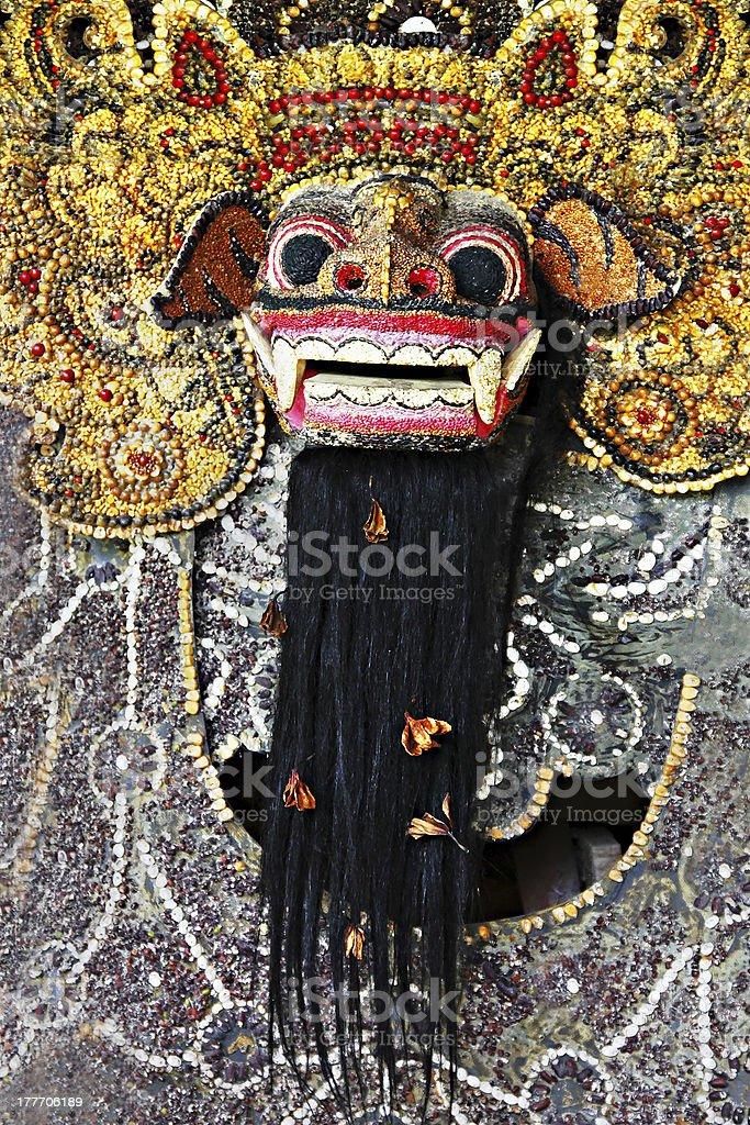 Barong mask royalty-free stock photo