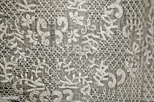 Closeup of texture of an expensive Barong Tagalog during a Philippine wedding