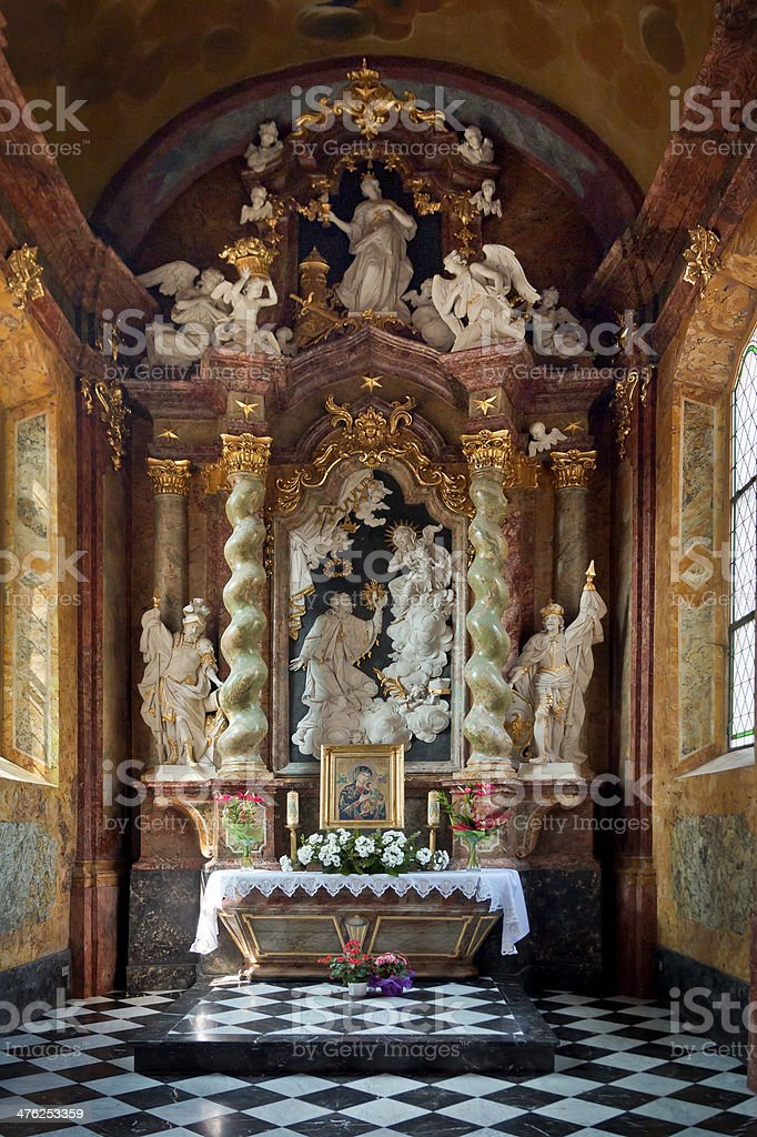 Baroque altar, Gdansk Oliwa royalty-free stock photo