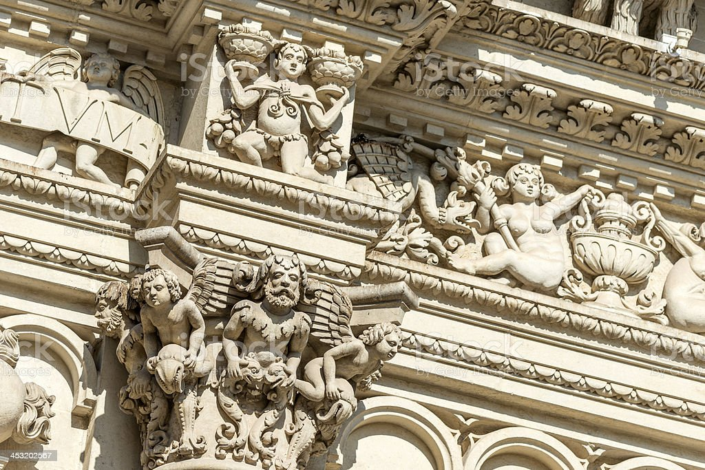 Baroque architecture detail in lecce italy stock photo for Baroque italien