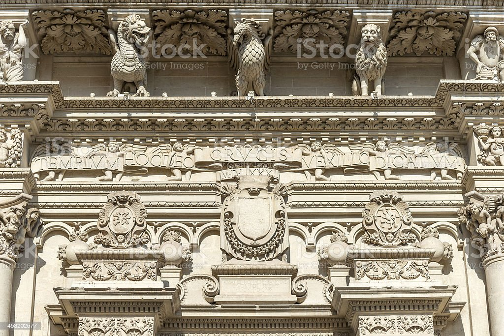 Baroque architecture detail in Lecce, Italy royalty-free stock photo