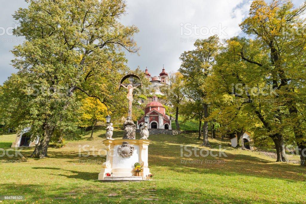 Stiavnica, 슬로바키아 반스카 갈 하 보 바로크 리 - 로열티 프리 0명 스톡 사진
