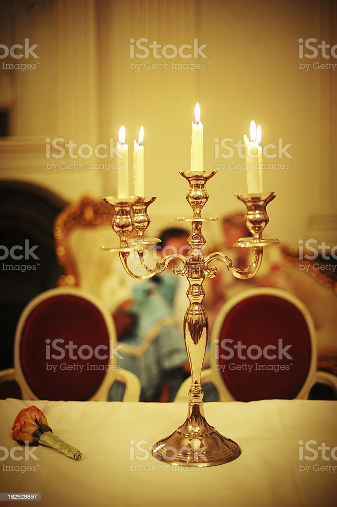 Baroque Candlelight royalty-free stock photo