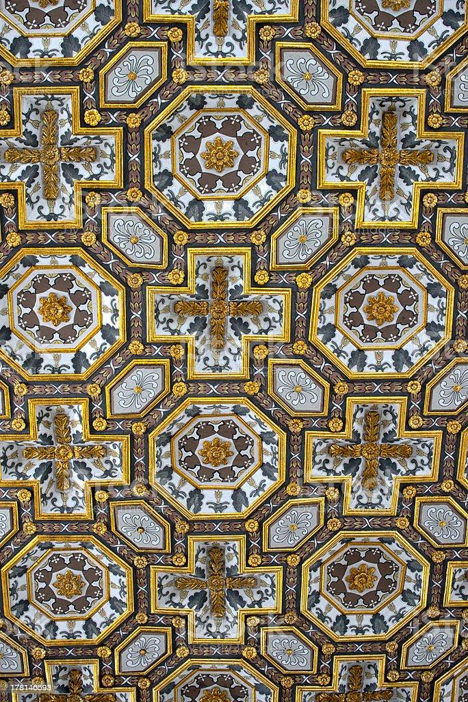 Baroque Ceiling, Cattedrale di Santa Maria Annunciata stock photo