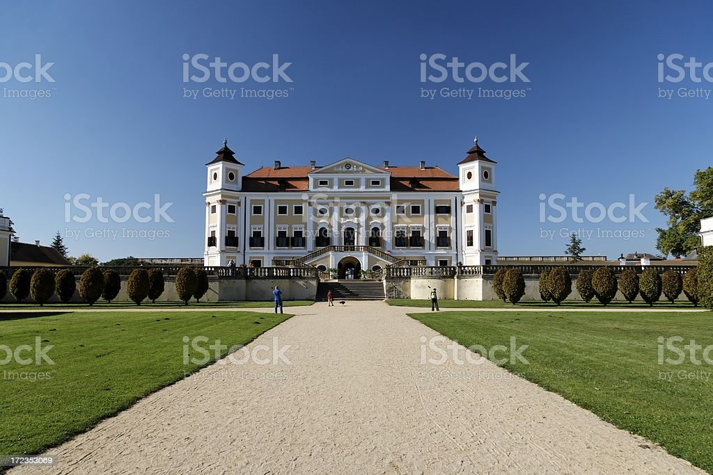 Baroque chateau royalty-free stock photo