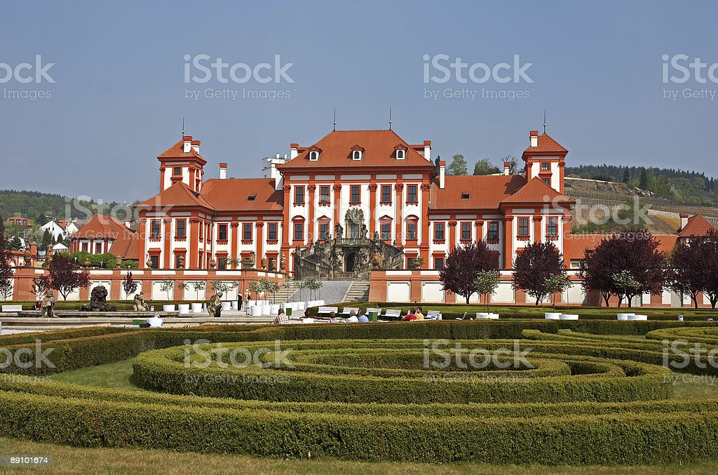 Baroque chateau Troja royalty-free stock photo