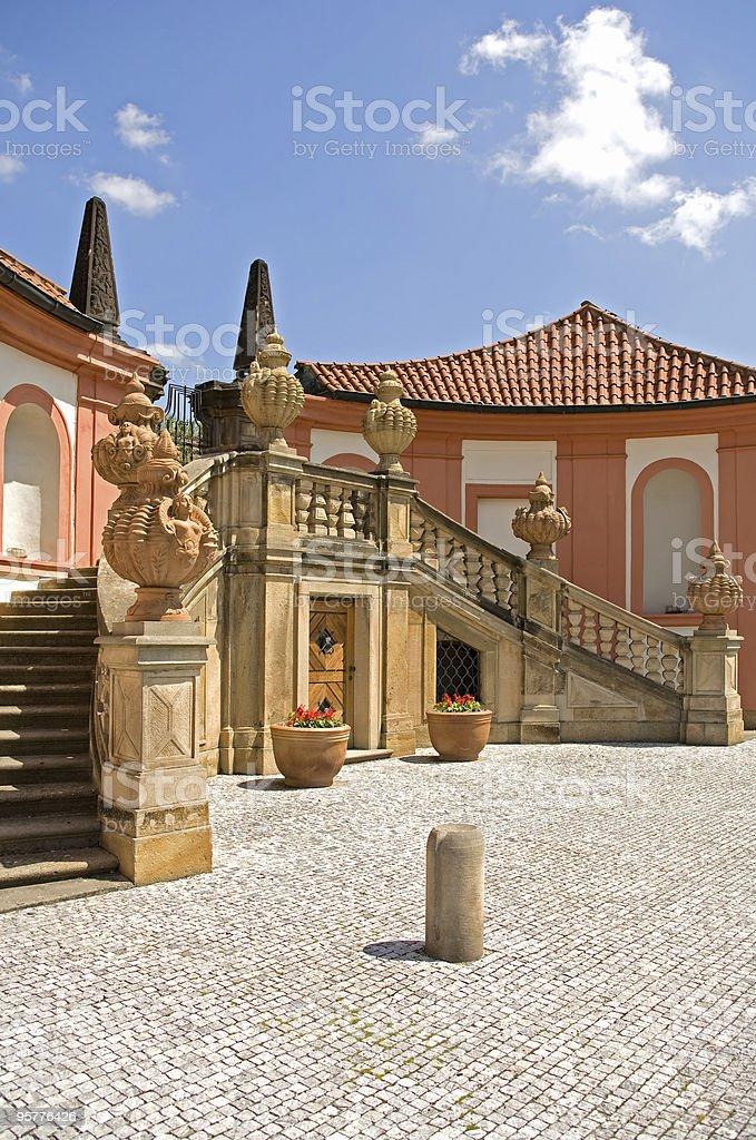 Baroque chateau Troja royalty-free stock photo