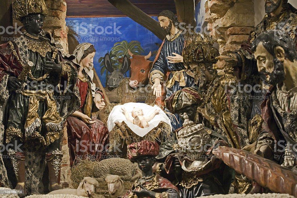 Baroque Christmas Bethlehem royalty-free stock photo