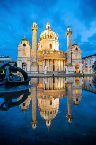 Baroque Church Karlskirche In Vienna Austria Stock Photo - Download Image Now