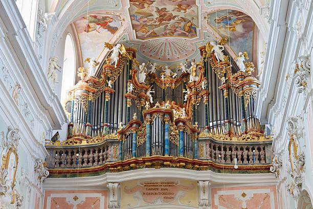 Baroque Church Organ stock photo