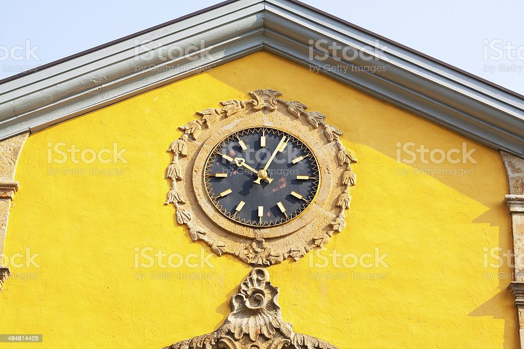 Baroque clock royalty-free stock photo