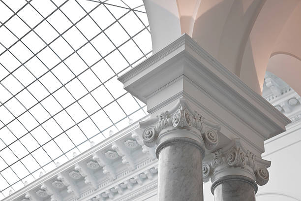 Baroque column Baroque column in the new library leipzig; germany greco roman style stock pictures, royalty-free photos & images