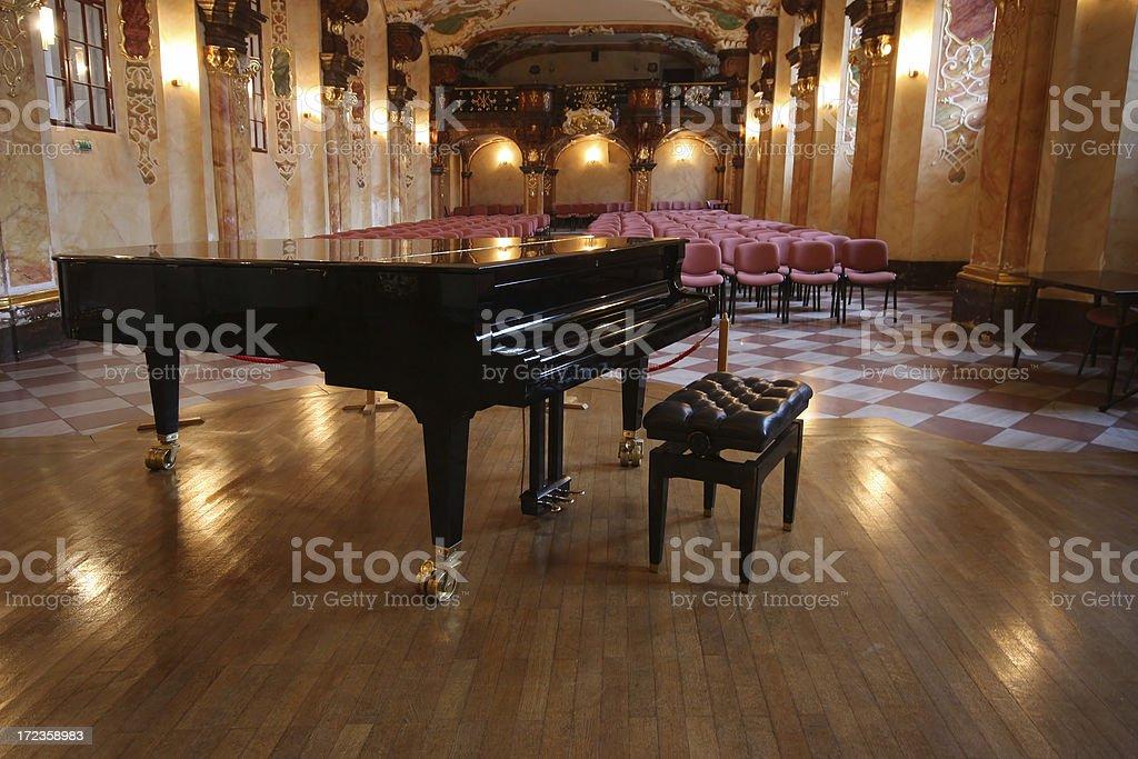 Barroco concert hall foto de stock libre de derechos