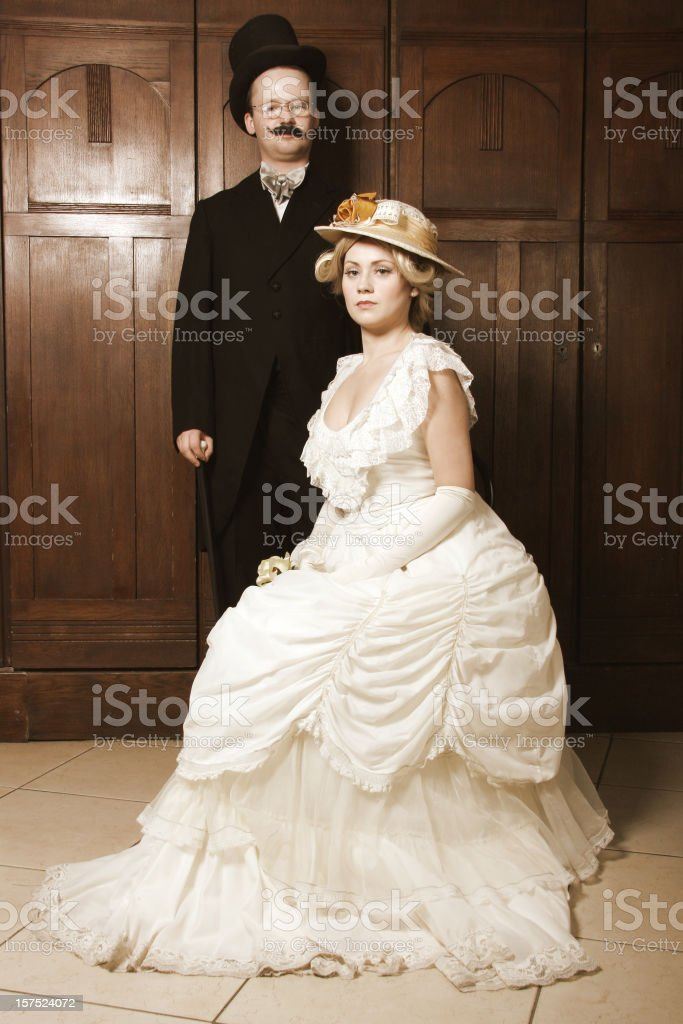 Baroque couple royalty-free stock photo
