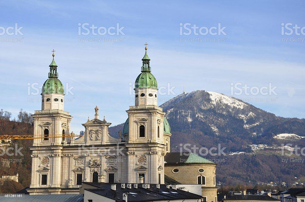 Baroque Dom Cathedral , Salzburg, Austria stock photo