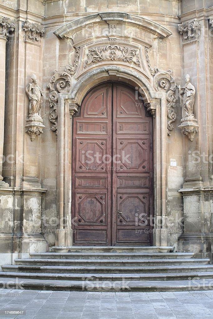 Baroque door royalty-free stock photo