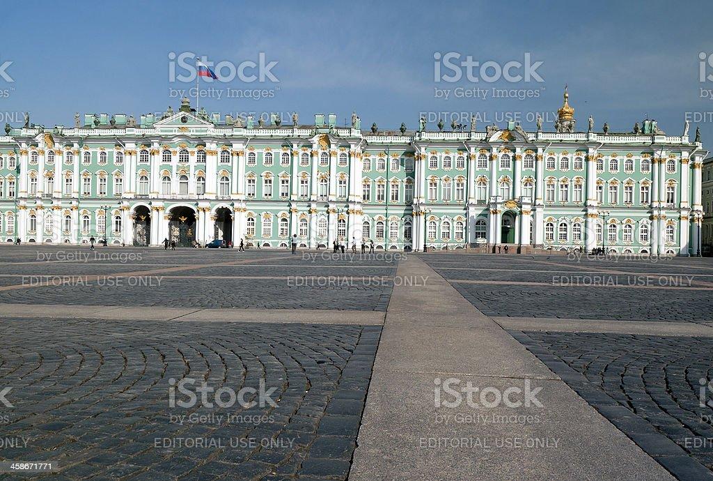Baroque Facade of Winter Palace Saint Petersburg stock photo