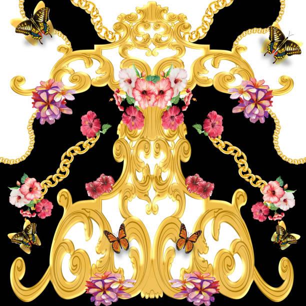barocke Blumenmuster – Foto