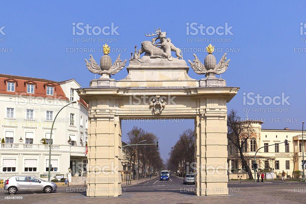 Baroque Gate in Potsdam stock photo