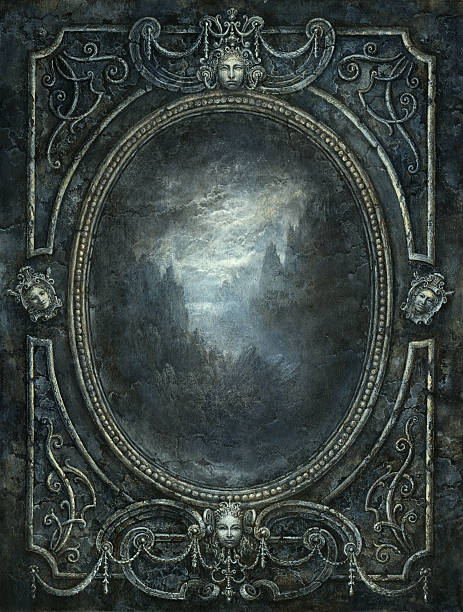 Baroque mirror stock photo