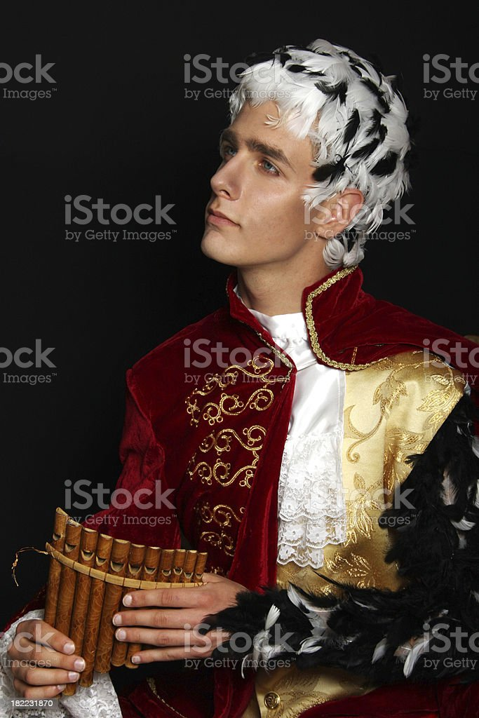 Baroque musician royalty-free stock photo