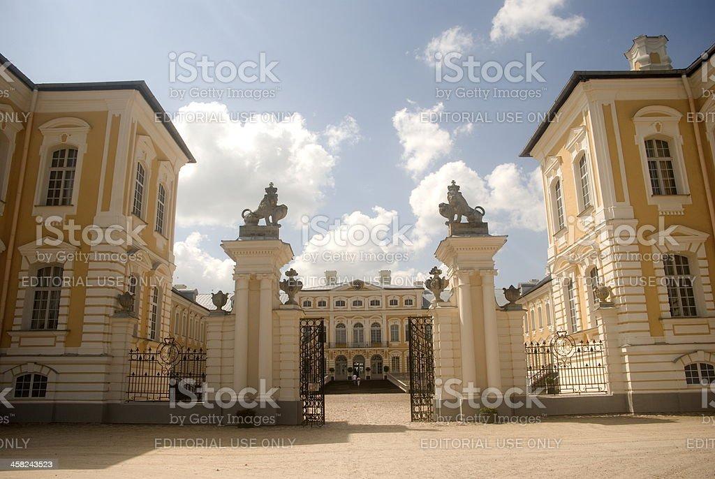 Baroque palace, Rundale, Latvia stock photo