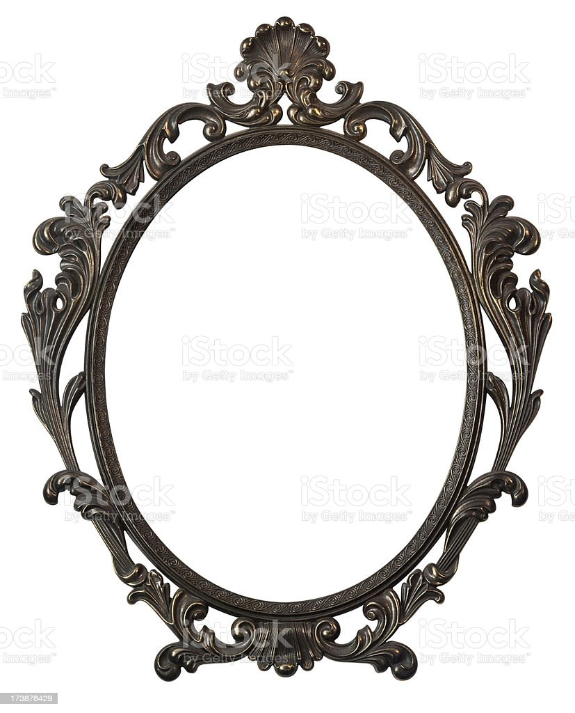 Baroque style picture frame royalty-free stock photo