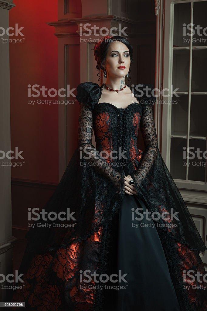 Mulher de estilo barroco. - foto de acervo