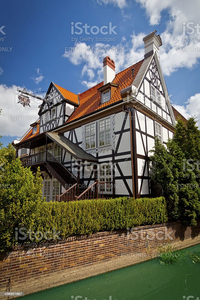Baroque tenement house in Gdansk royalty-free stock photo