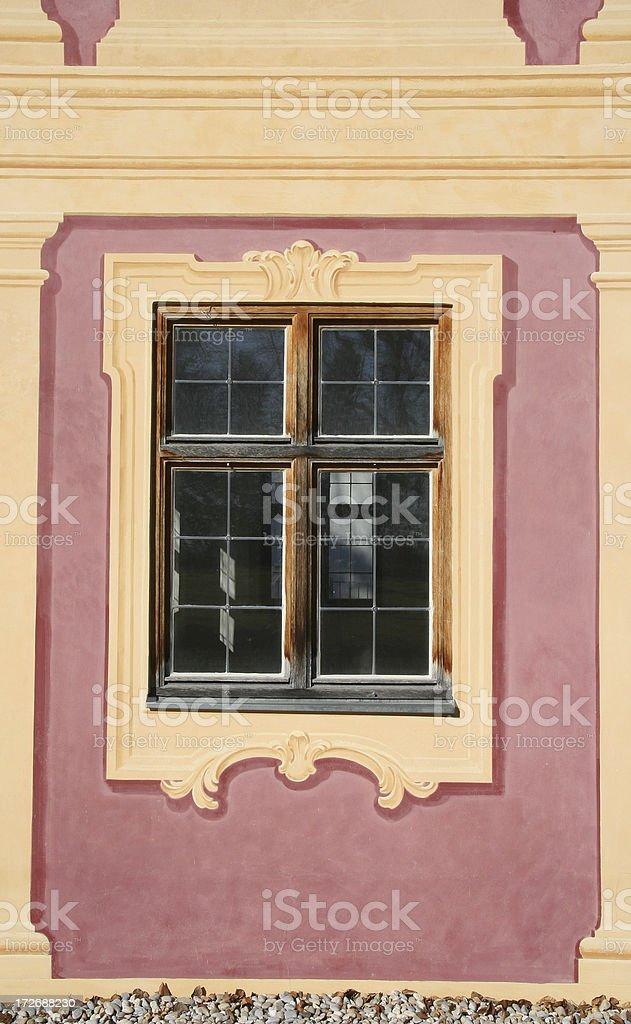 Baroque Window stock photo