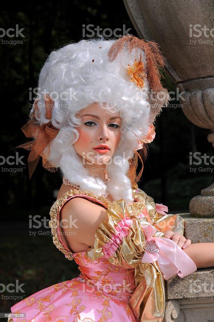 Baroque Woman Portrait one stock photo