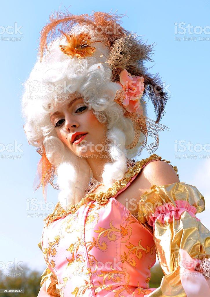 Baroque Woman Portrait six stock photo