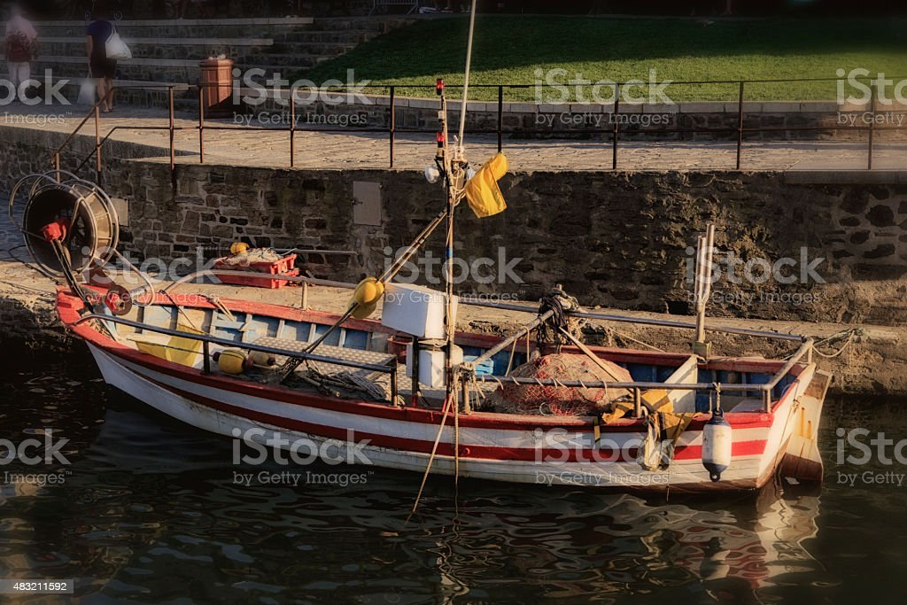 Barque de pêche stock photo