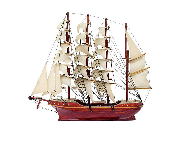 Barque ship gift craft model wooden – Foto