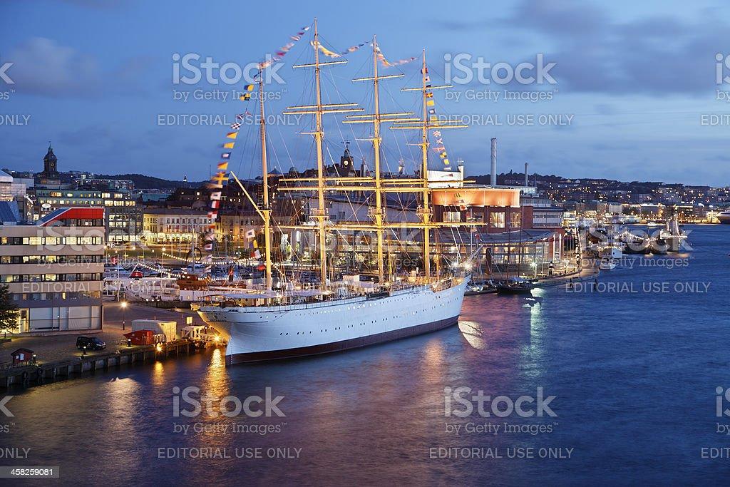 Barque Viking at Gothenburg harbour stock photo