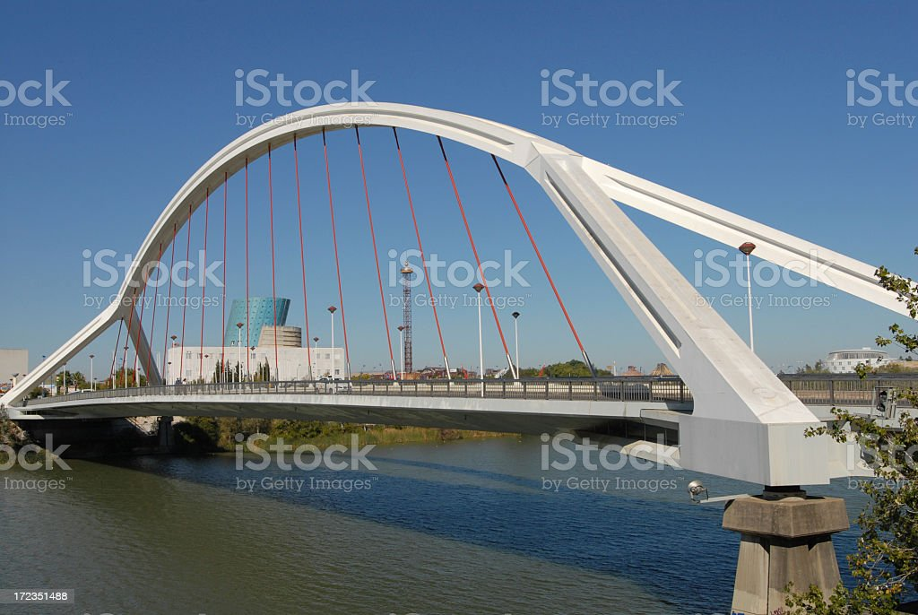 Puente de la Barqueta royalty-free stock photo