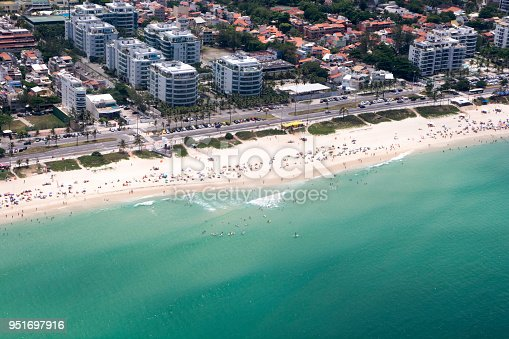 istock Barra da Tijuca Beach aerial view, Rio de Janeiro. Brazil 951697916