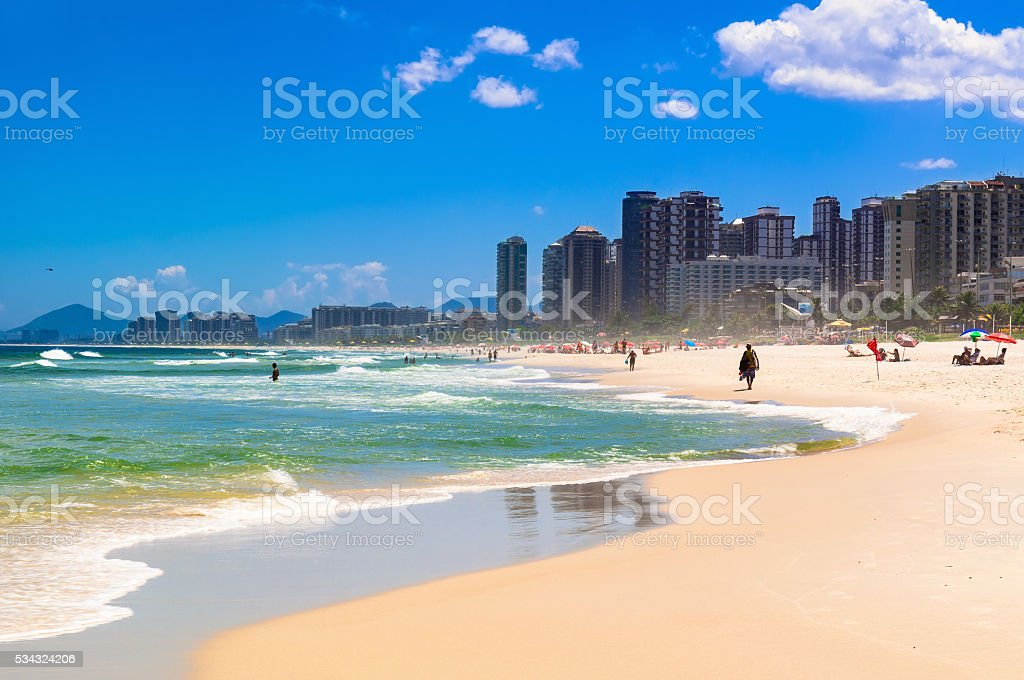 Barra da Tijuca beach, Rio de Janeiro stock photo