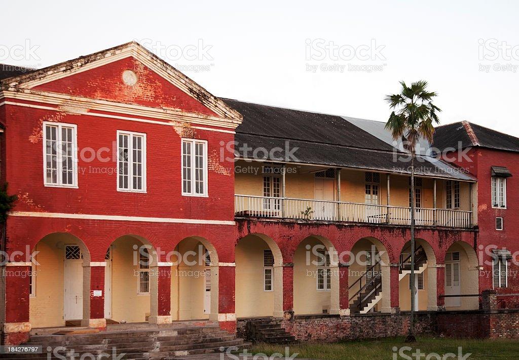 Barracks at Garrison Savannah, Bridgetown, Barbados stock photo