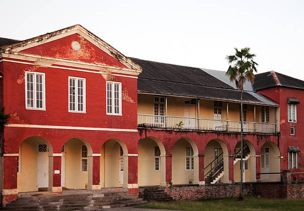 Barracks at Garrison Savannah, Bridgetown, Barbados stock photo
