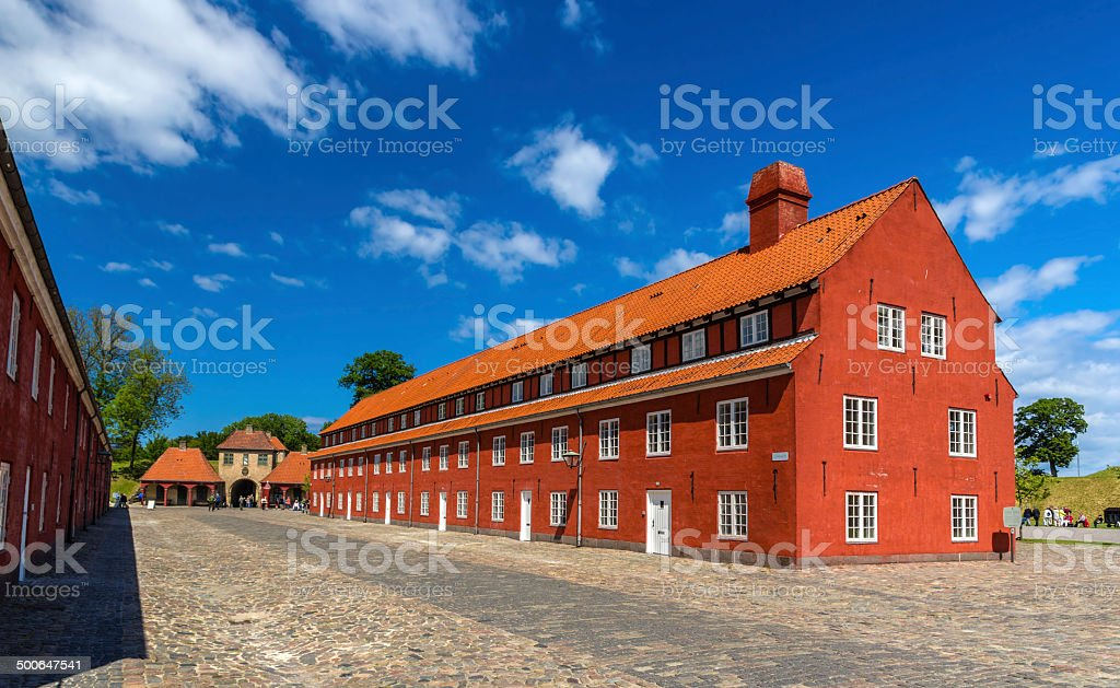 Barracks in Kastellet fortress, Copenhagen, Denmark stock photo
