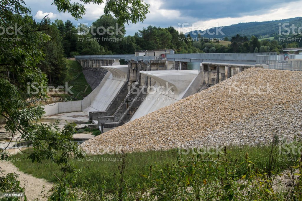 barrage de charmine,ain france royalty-free stock photo