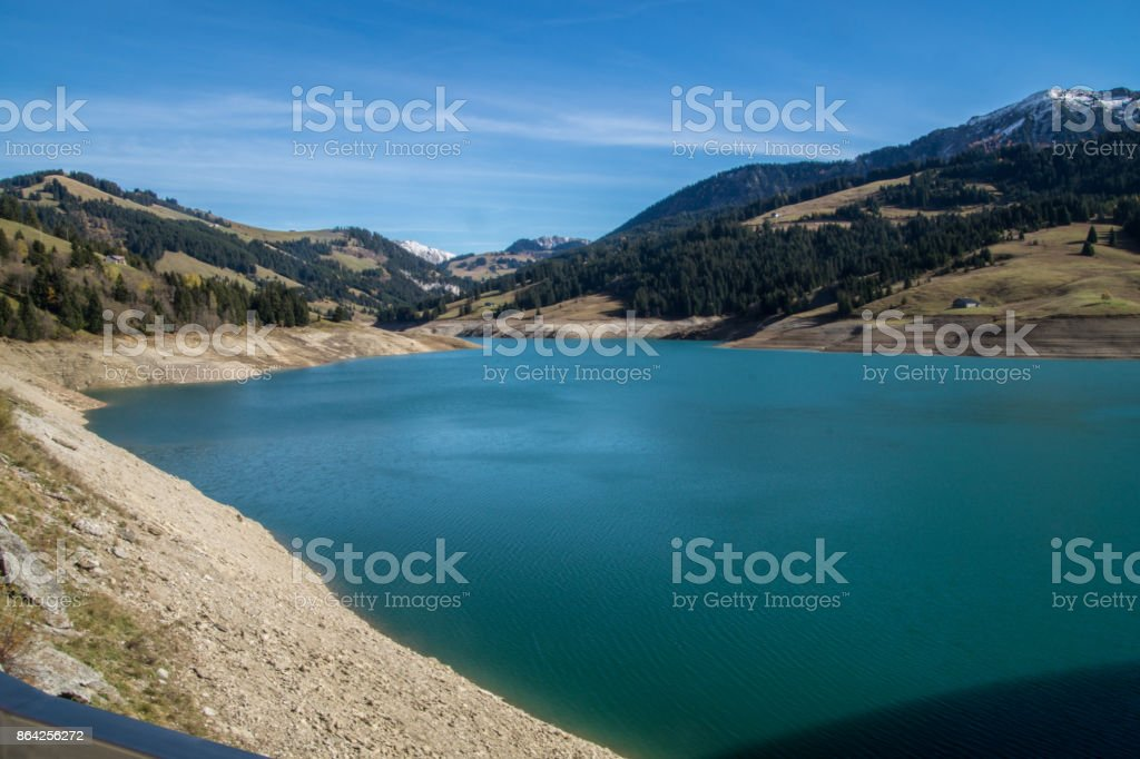 barrage de lhongrin,,valais,swiss royalty-free stock photo