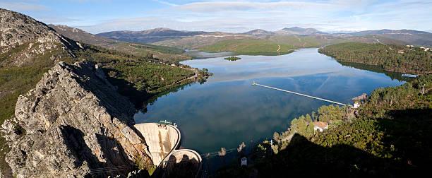 barragem de santa luzia - barragem portugal imagens e fotografias de stock