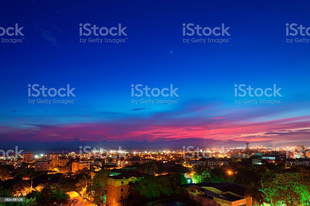 Barranquilla al atardecer - foto de stock