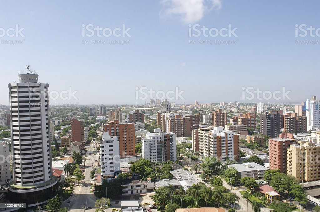 Barranquilla view stock photo