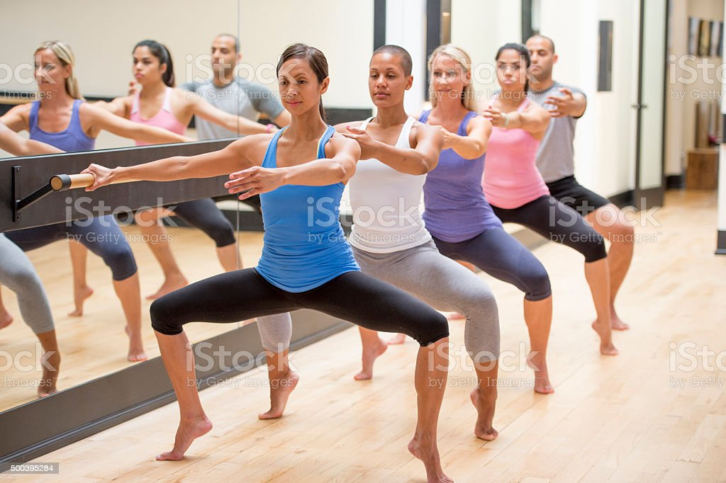 Barre Warm Up stock photo