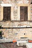 Galata, Turkey, Stone wall, Wood, Glass Frame, Facade, Decoration