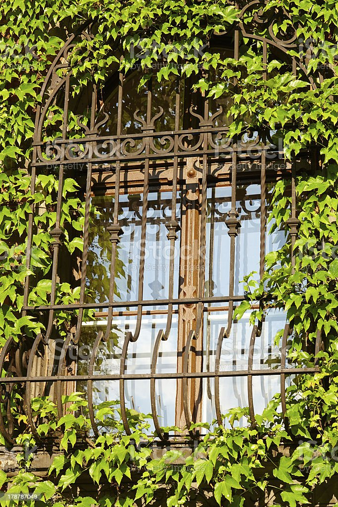 Barred window royalty-free stock photo