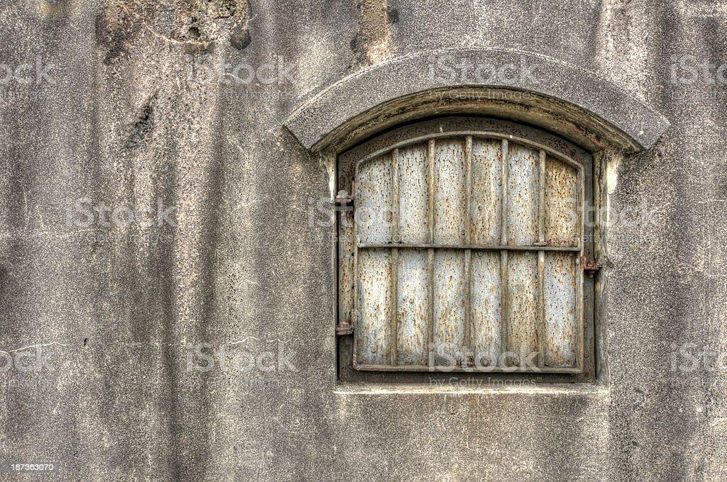 Barred Window stock photo